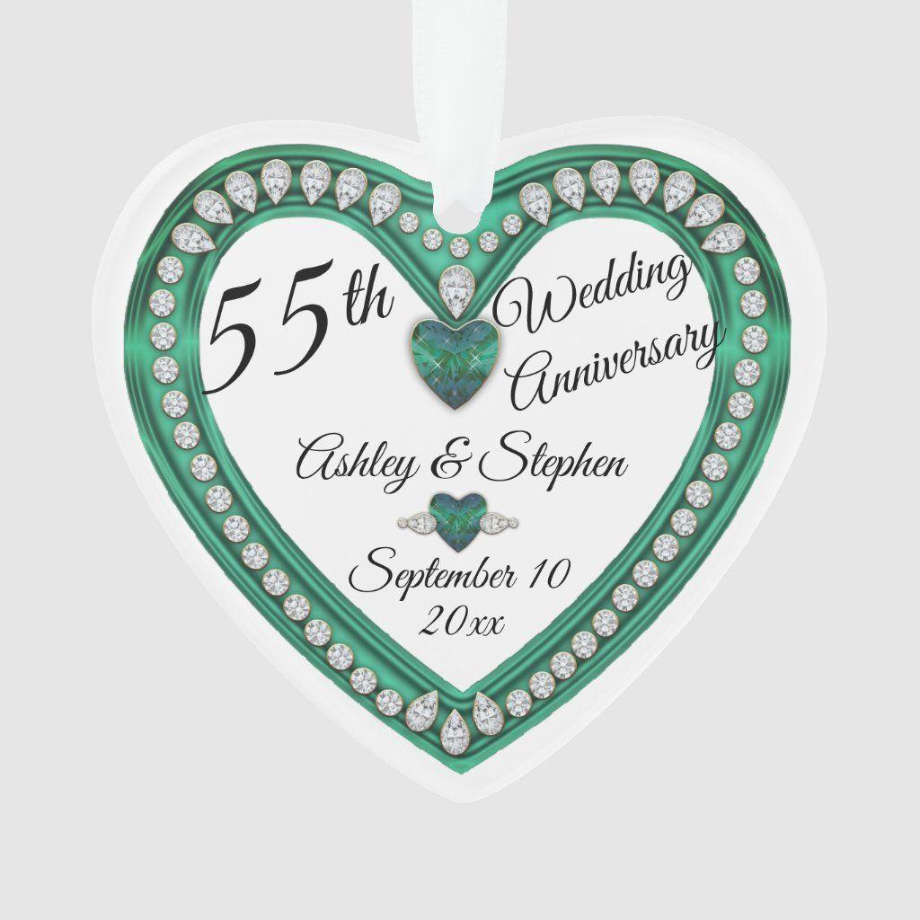 55th Wedding Anniversary Alexandrite Diamond Ornament Zazzle Com 55th Wedding Anniversary Wedding Anniversary Keepsake Wedding Anniversary