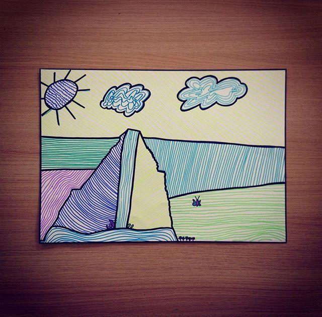 >>> STAGE PÂQUES <<< #ccrc #lesatelierslatêteenlair #lalouvière #art #artsplastiques #stage #enfants #dessins #lignes #motifs #couleursfroides