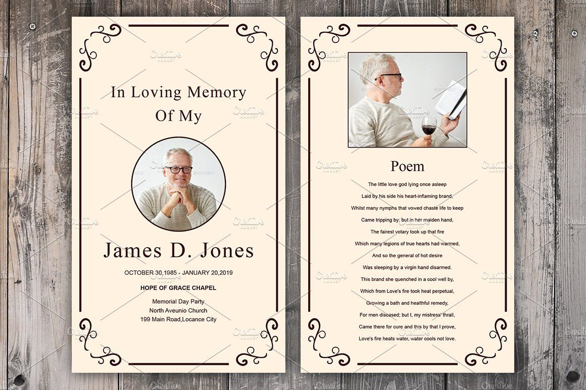 The Wonderful 040 Free Funeral Program Template Indesign Ideas