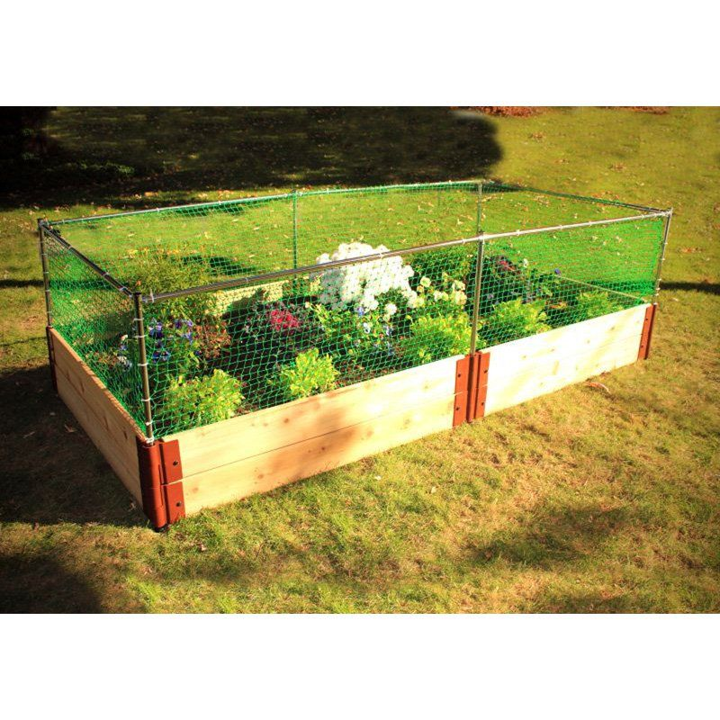 Frame It All 2 Inch Series Cedar Raised Garden Bed Kit With Animal Barrier