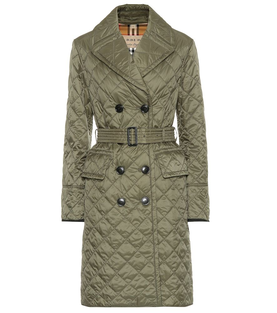 Quilted trench coat in 2019  8bee67cc9bd0
