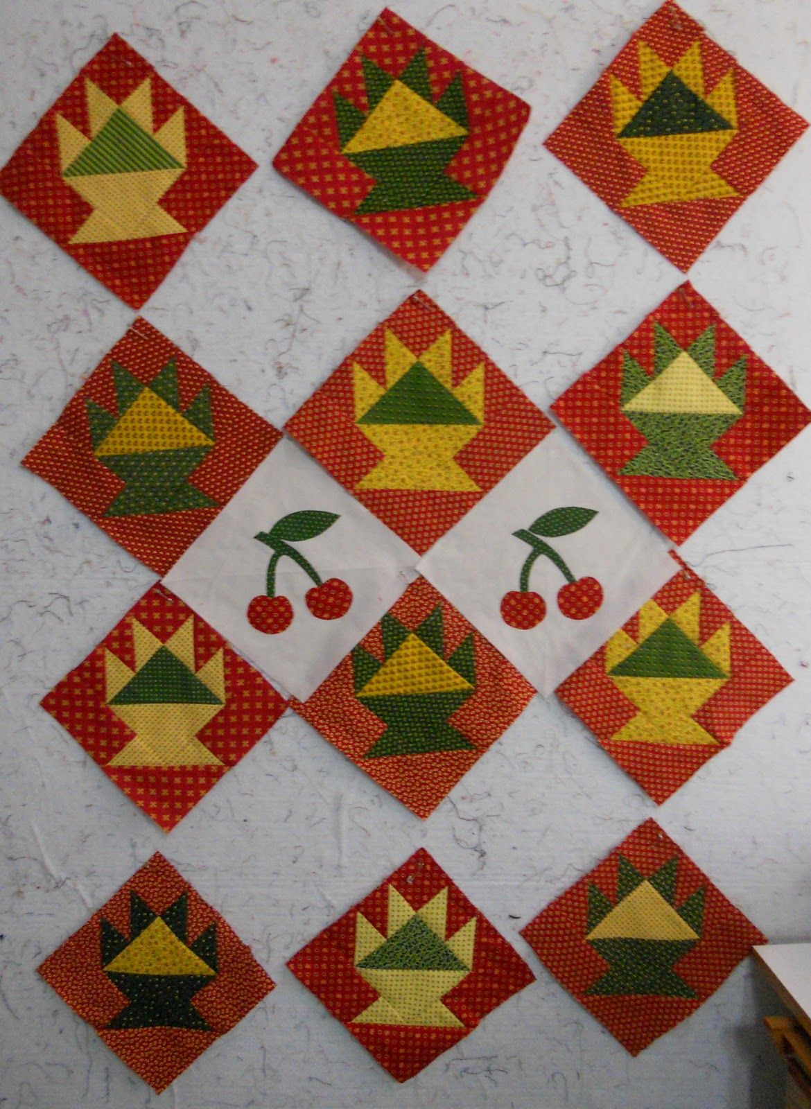 cherry basket quilt blocks (With images) Small quilts