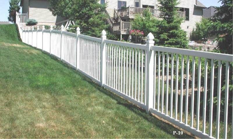 Vinyl yard fence white price cheap pvc wpc