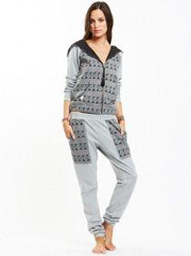 Paisley Printed Pant - Grey Marle | Women's Pants Online | BIRDMOTEL