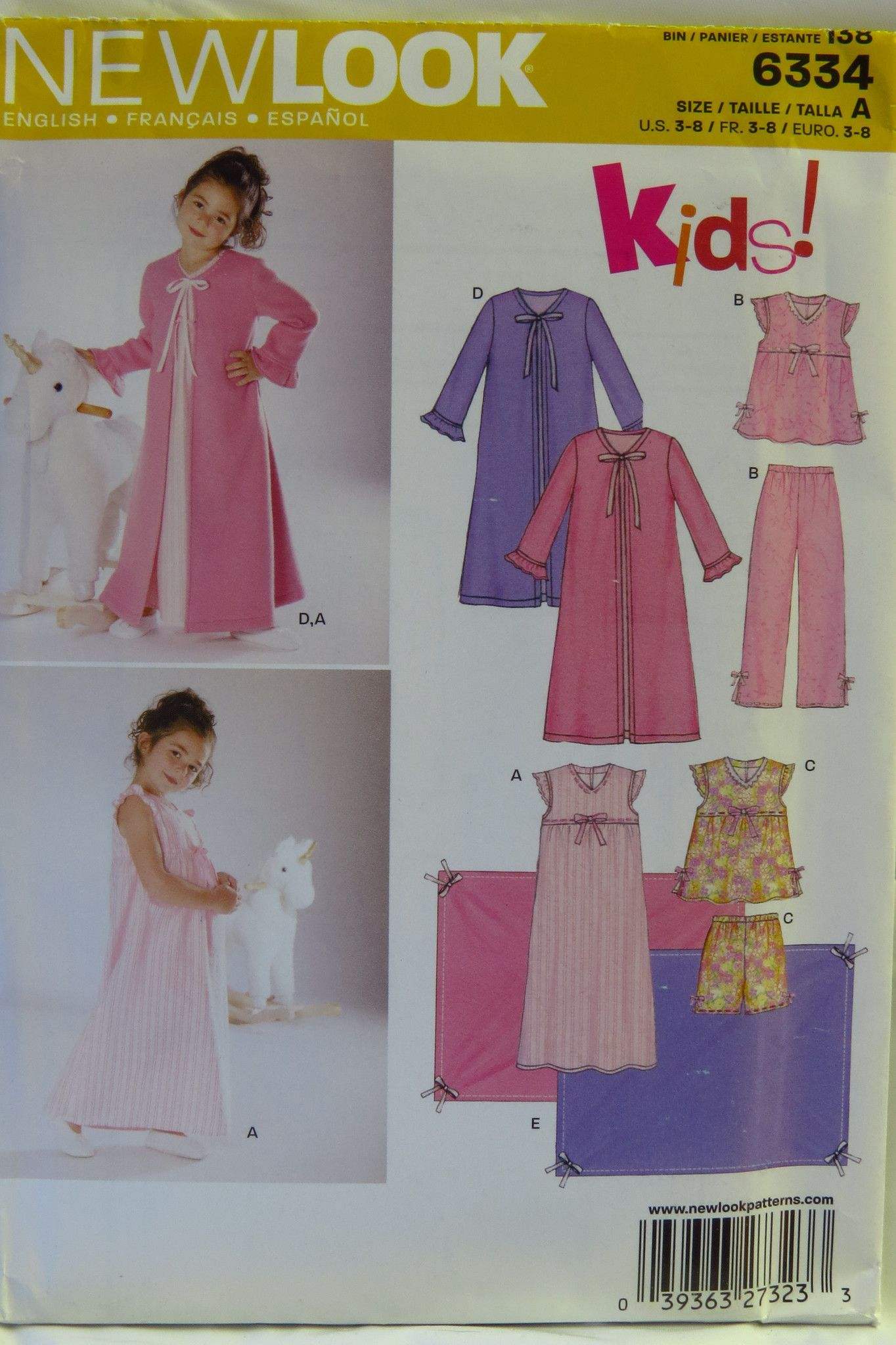 New Look 6334 Children s Six in One Pajamas and Sleepwear  8f4aead55