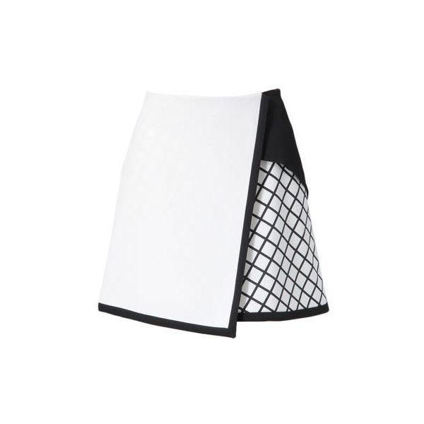 AKANE UTSUNOMIYA Graphical Silk Short Skirt (€275) ❤ liked on Polyvore featuring skirts, mini skirts, bottoms, faldas, gonne, white skirt, silk skirt, silk mini skirt, short skirts and mini skirt