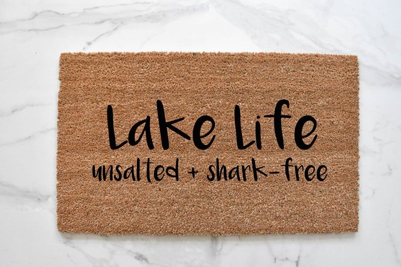 Photo of Lake Life Doormat, Cute Doormat, Lake House Doormat, Lake House Decor, Cabin Decor, Cabin Doormat, Funny Doormat, Welcome Mat, Outdoor Rug