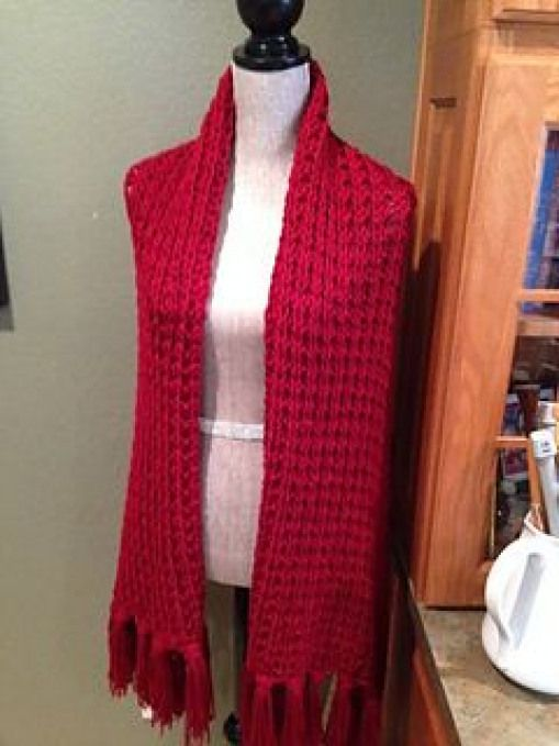 Easy prayer shawl for beginners with a two-rwo pattern ...