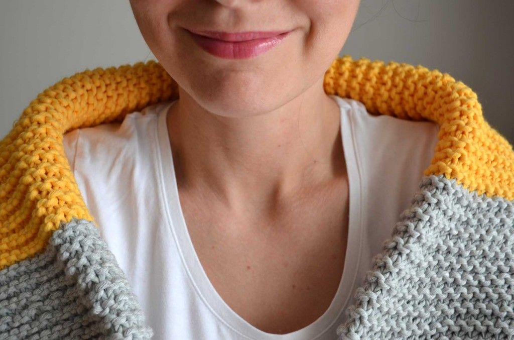 modele echarpe point mousse tricot tricot apprendre. Black Bedroom Furniture Sets. Home Design Ideas