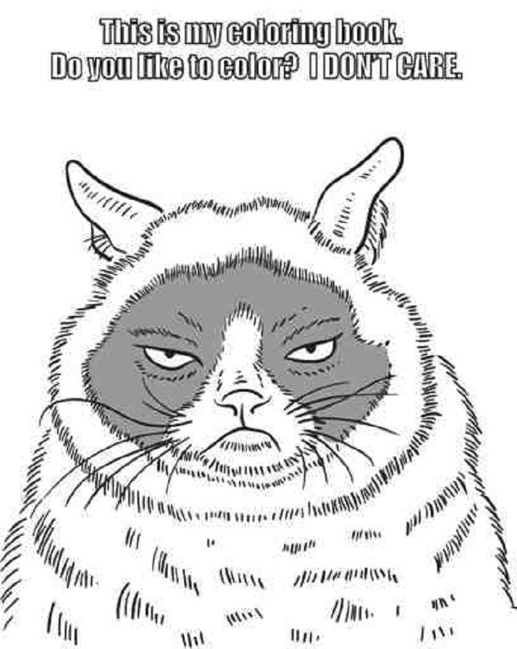 Grumpy Cat Coloring Pages Cat Coloring Book Coloring Books Cat Coloring Page