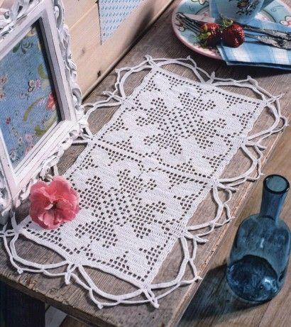 Napperons rectangulaires et leurs grilles gratuites au - Napperon crochet grille gratuite ...