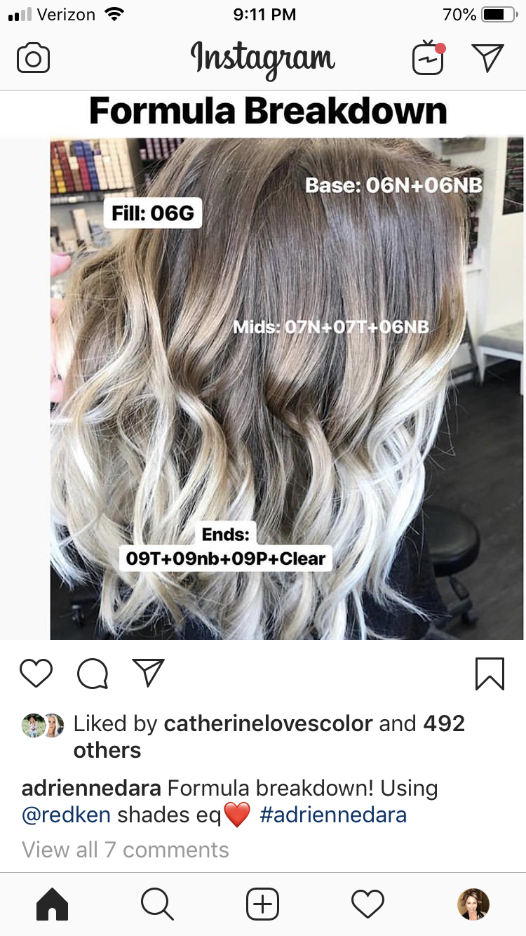 Pin By Melissa Scoran On Ombre Sombre Bayalage Root Shadow Ideas Redken Hair Color Hair Color Formulas Redken Hair Products