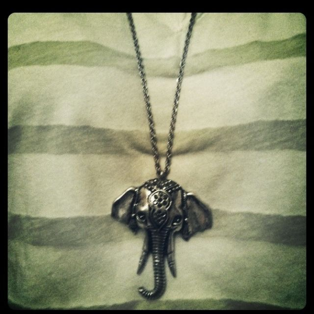 got this awesome elephant necklace at what's in store today. love!