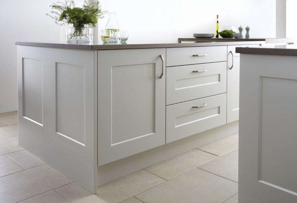 Burbidge\'s Stowe Kitchen in Porcelain - Island and Drawers ...