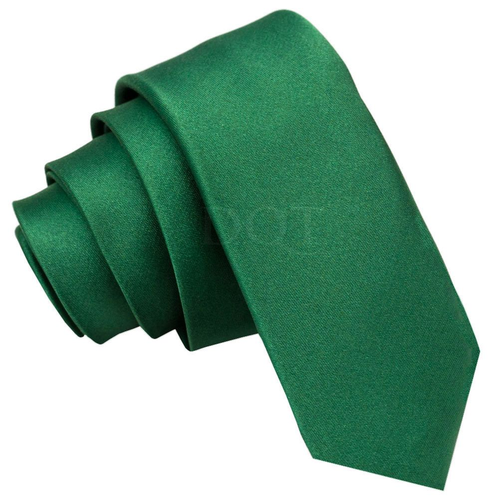 d3b830824de0 Emerald Green Plain Satin Skinny Tie | Men's Ties