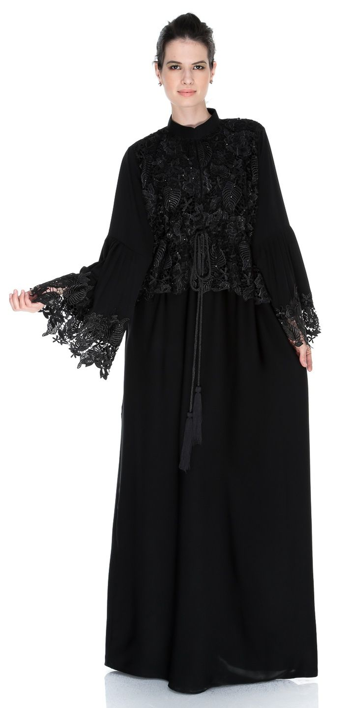Black modern dress - Abaya Casual Abaya Sale 2013 Daily Wear Black Modern Abayas Fashion Clothing9