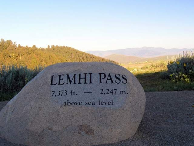 Many historians consider Lemhi Pass the most important site along the Lewis and Clark National Historic Trail. It was here that the dream of the Northwest Passage died and the expedition began its passage through the Rocky Mountains with horses acquired from the Lemhi Shoshone. Stands of fir and pine trees and mountain meadows look much the same today. The Lewis and Clark Backcountry Byway   ~ A memorial near the pass commemorates Sacajawea, the expedition's Shoshone interpreter.