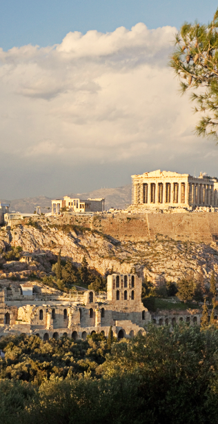A perfectly situated pad with views of the Acropolis and the new Acropolis Museum. #Greece