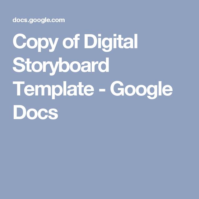 Copy Of Digital Storyboard Template  Google Docs  Harry Potter