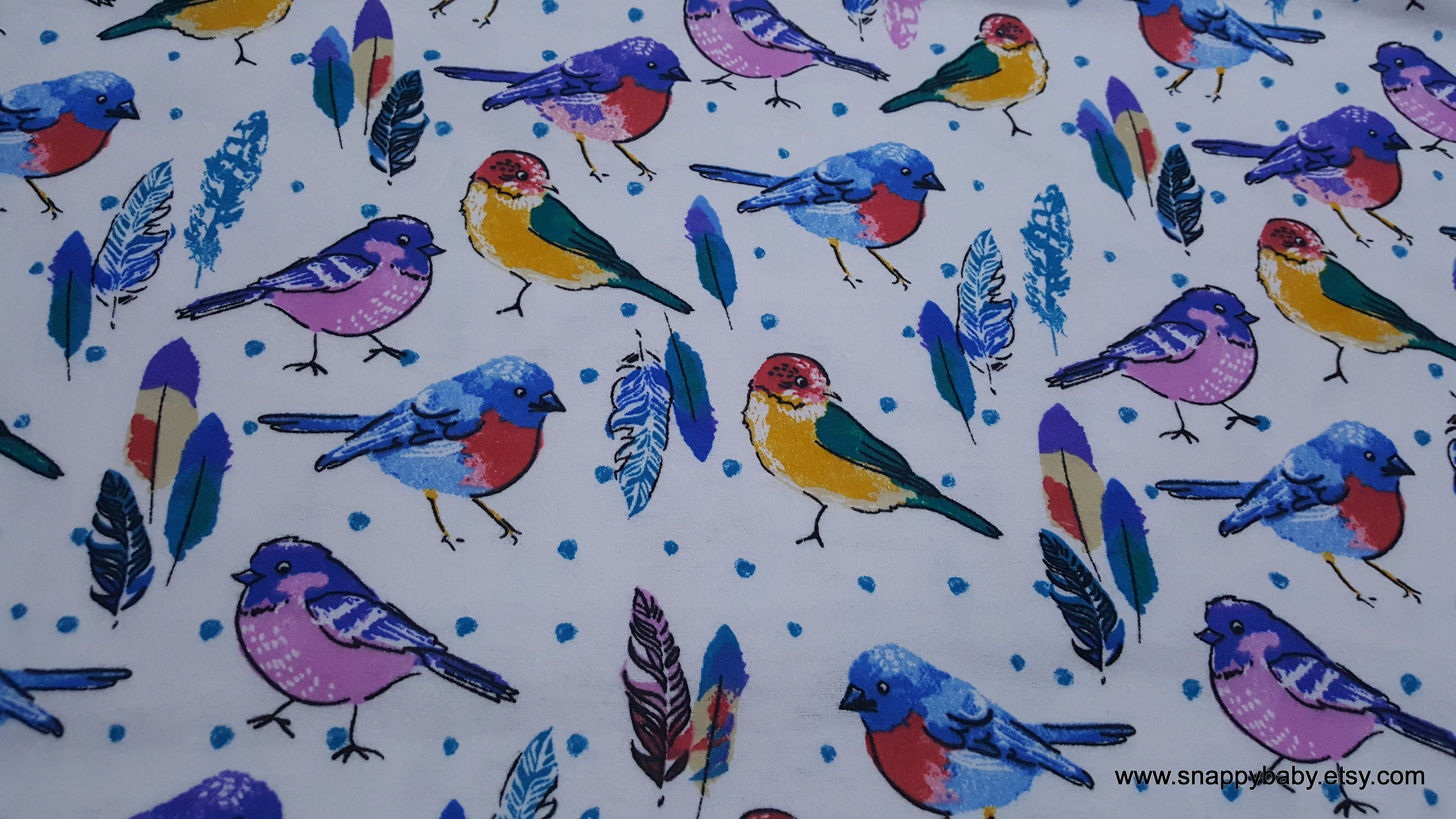 Flannel Fabric Birds And Feathers By The Yard 100 Etsy Fabric Birds Flannel Fabric Cotton Flannel