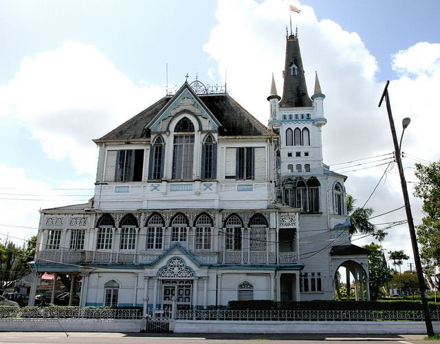 City Hall Georgetown, Guyana | House styles, City hall, Mansions