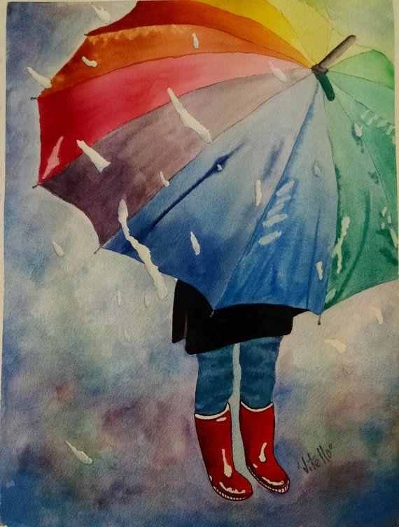 Картинки с зонтиками нарисованные, почтальон плес почтовые