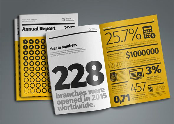 Infographic from creative annual report InDesign template ar - business annual report template