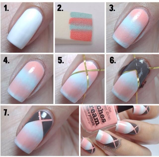 awesome Easy Nail Art for Beginners Step By Step Tutorials   Nail ...