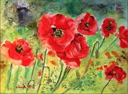 Image result for poppieswatercolour