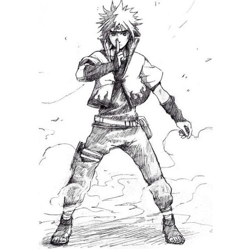 Minato Namikaze Drawing Yellow Flash Fourth Hokage