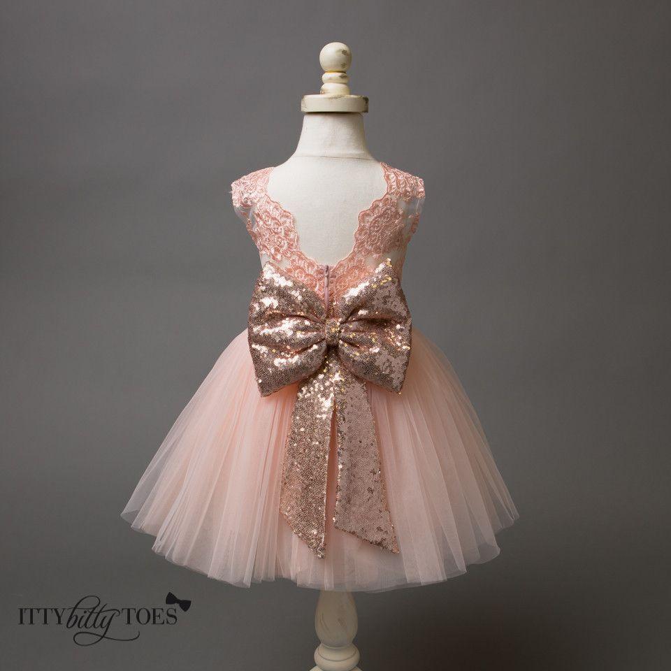 Flower Girl Dresses Rose Gold - Cheap Wedding Dresses