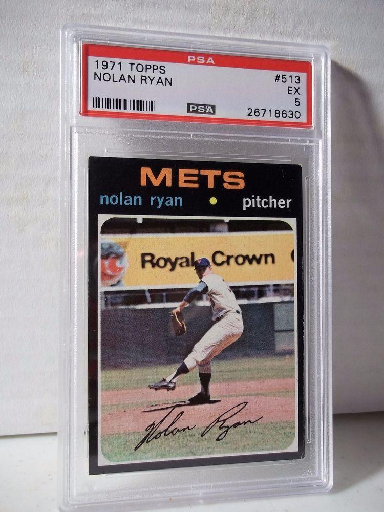1971 topps nolan ryan psa ex 5 baseball card 513 mlb hof