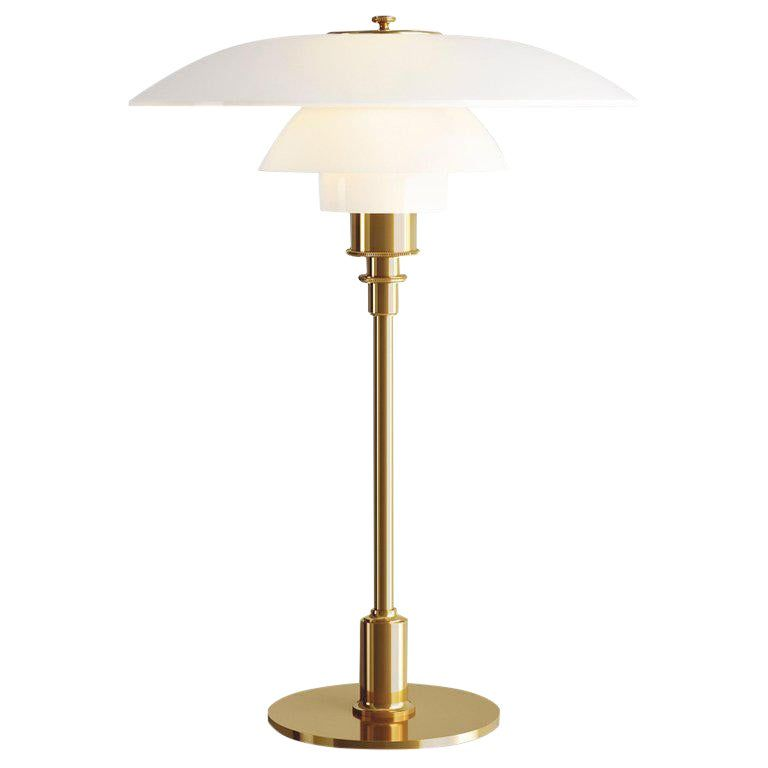 Poul Henningsen Brass And Glass Ph 3 1 2 2 1 2 Table Lamp For Louis Poulsen In 2020 Table Lamp Lamp Glass Table Lamp