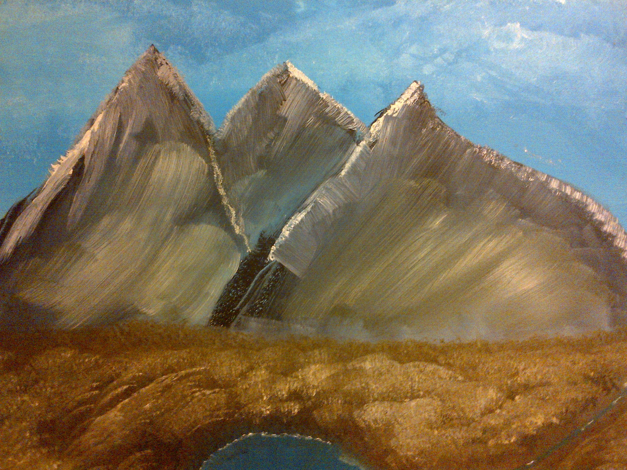Mountain Valley - oil & acrylic on canvas