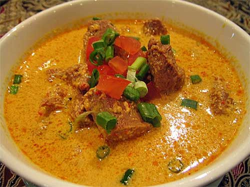 Gulai Kambing Indonesian Lamb Goat Curry Cooked With Coconut Milk And Traditional Spices Gulai Resep Masakan Resep Masakan Indonesia