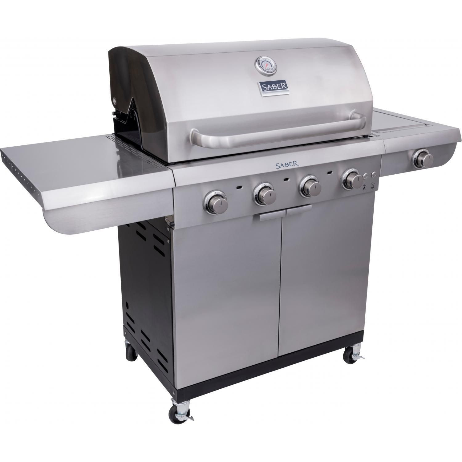 Saber Select 4 Burner 30 Inch Infrared Propane Gas Grill With Side Burner R52sc0421 Bbqguys In 2021 Gas Grill 3 Burner Gas Grill Propane Gas Grill Propane grill with side burner