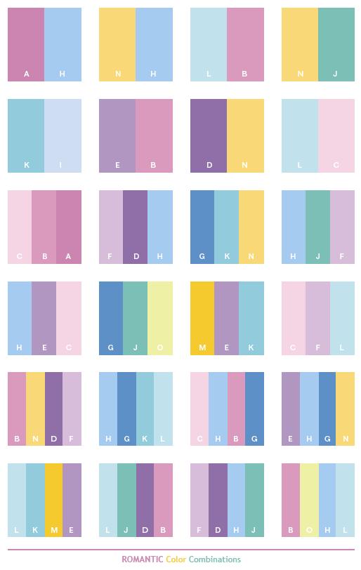 Color Schemes | Romantic color schemes, color combinations