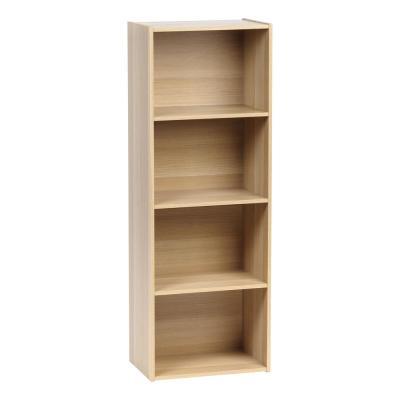 4 Tier Light Brown Wood Storage Shelf Wood Storage Shelves Wood
