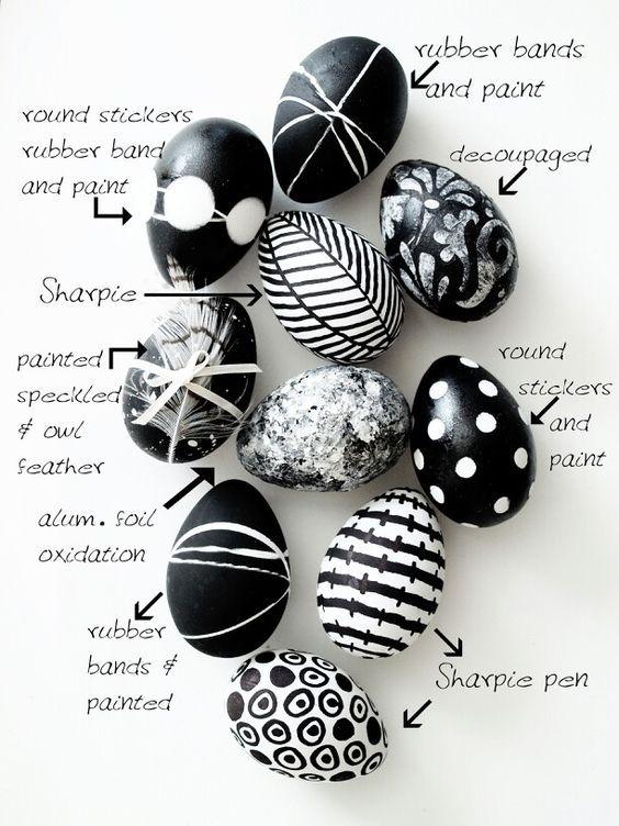 Level: easy // Schöne schwarz-weiß Muster // gesehen bei: