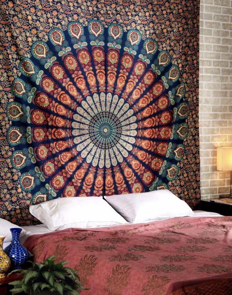 Indian Mandala Buddha Wall Hanging Tapestry Livingroom sheet Bedspread Decor