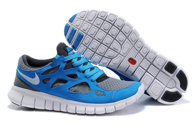 Nike Free 2.0 Blue Grey White Running Shoes