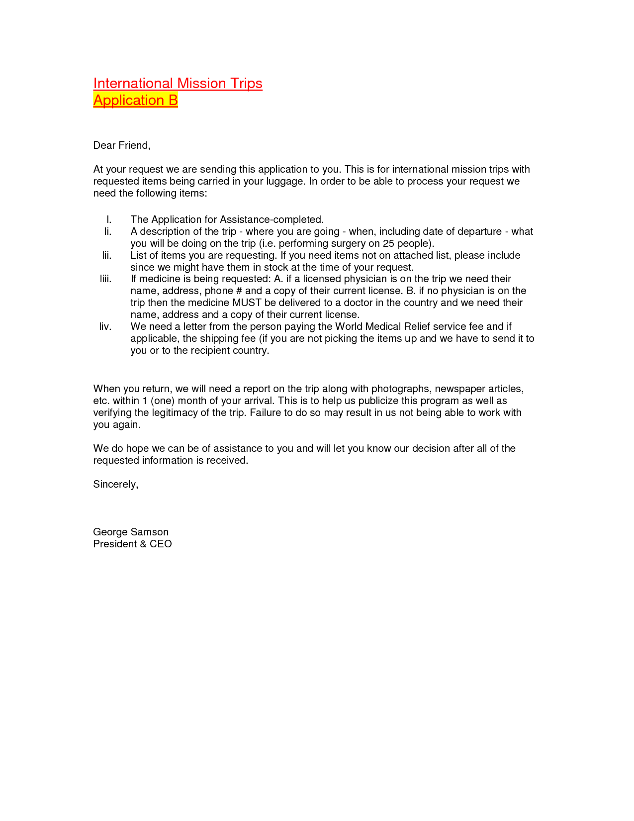 Sample Donation Acknowledgement Letter Charity Charitable Template