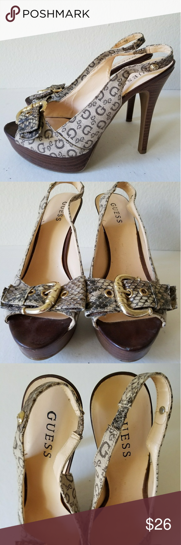 9eb4f0376 Spotted while shopping on Poshmark  Guess Womens High Hills Shoes SZ 8!   poshmark  fashion  shopping  style  Guess  Shoes