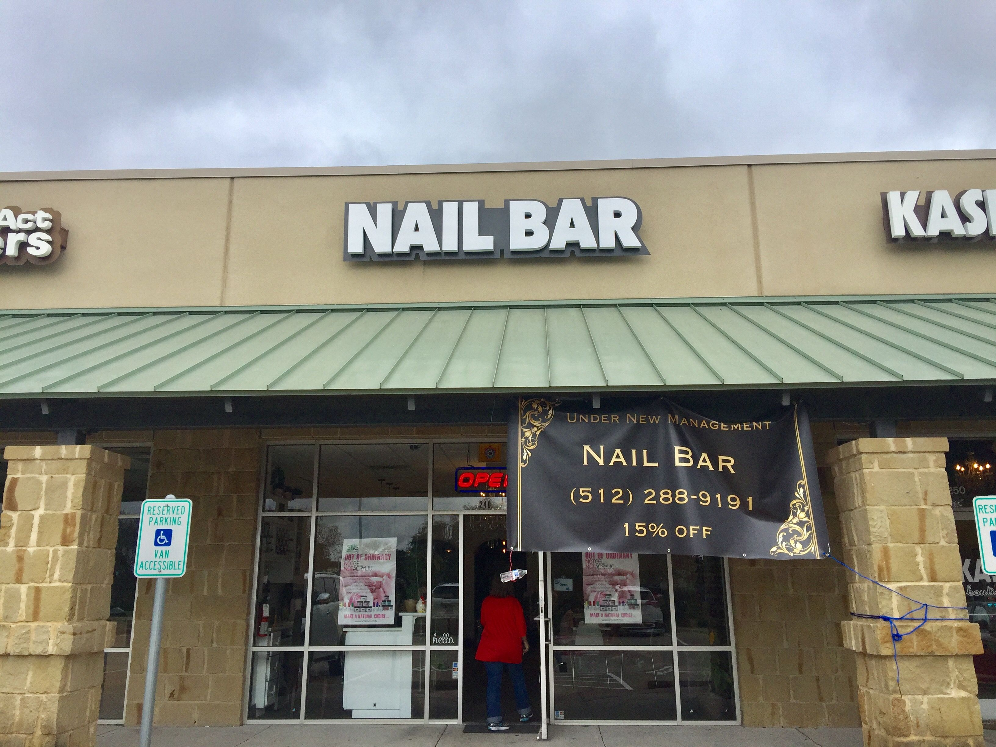 Nail Bar  Austin Reverse Channel Letter Sign Fabrication