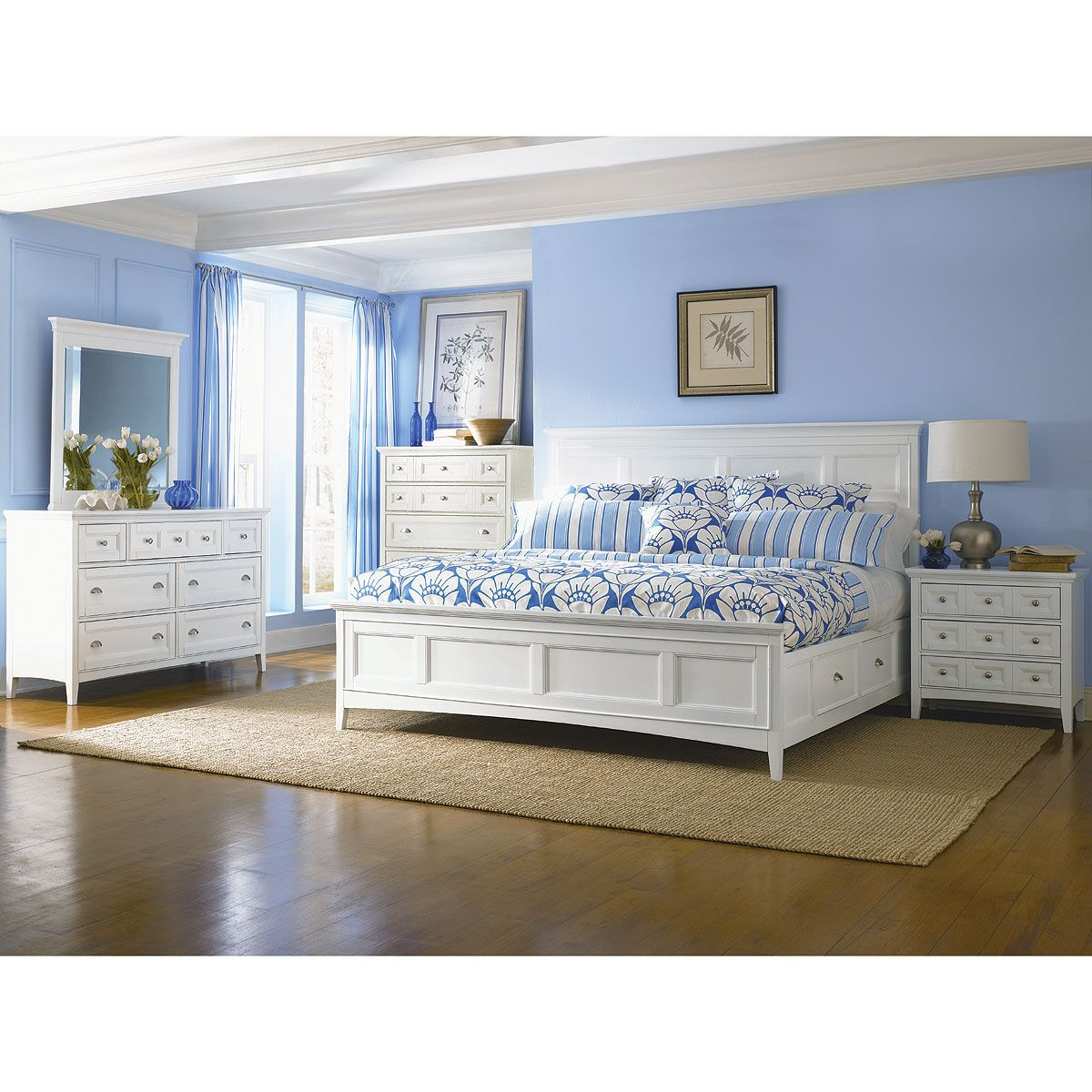 Best Classic White 4 Piece California King Bedroom Set Trentwood White Bedroom Set King Bedroom 640 x 480