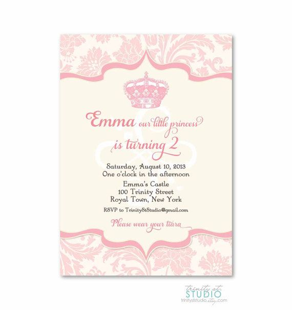 Vintage Royal Princess Invitation - Birthday Party Baby Shower - birthday invitation message examples