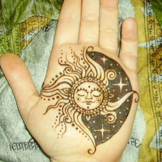 Henna Sun And Moon Tattoos Pinterest Tattoos Sun Tattoos And