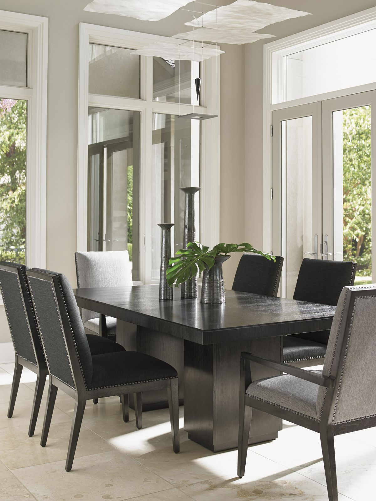 Carrera Vantage Upholstered Side Chair Lexington Home Brands Double Pedestal Dining Table Extendable Dining Table Pedestal Dining Table
