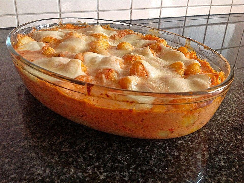 Gnocchi aus dem Ofen in Paprika-Tomaten-Sauce. Über 981 Bewertungen und für raffiniert befunden. Mit ► Portionsrechner ► Kochbuch ► Video-Tipps! Jetzt entdecken und ausprobieren!