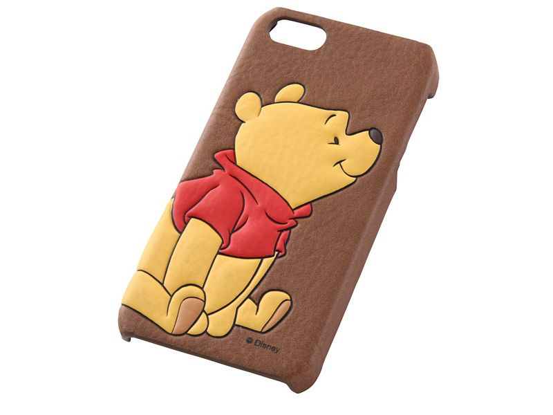 RAY OUT Winnie the Pooh Embossed iPhone 5 5S Fake Leather Cover Case JAPAN